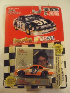 1995 Edition Loy Allen 27 Stock Car w Collectors Car ORG Pkg