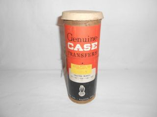 Vintage Genuine Case Tractor Transfers Papers Oil Can Tube Gas