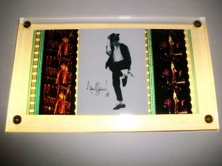 Michael Jackson RARE Film Cell Memorabilia Plaque