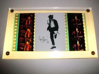 Michael Jackson RARE Film Cell Memorabilia Plaque