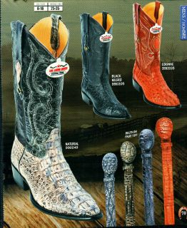 Los Altos Mens Genuine Caiman Hornback Leather Western Cowboy Boots J