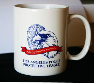 Los Angeles Police Protective League Mug LAPD Coffee Cup, badge, eagle