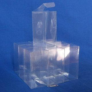 25 Plastic Storage Display Boxes 2 x 2 x 4 Y5
