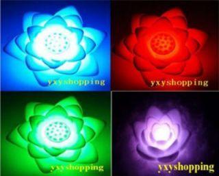 10 Pcs LED 7 Color Lotus Flower Lamp Changing Night Light Halloween