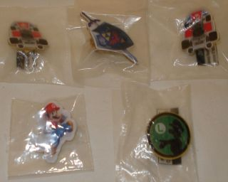 Nintendo Mario Kart Luigis Mansion Zelda E3 Promo Pins Lot of 5 New
