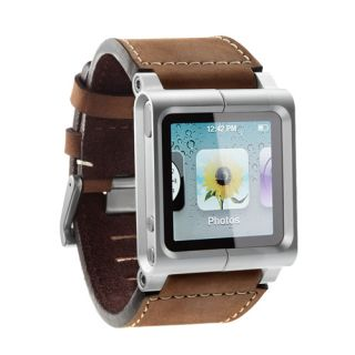 LunaTik Chicago Collection Leather Watch Band Strap Brown for iPod