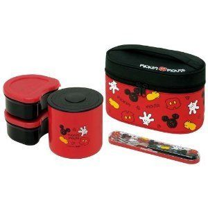Japanese Bento Thermal Lunch Box Mickey Mouse Disney New