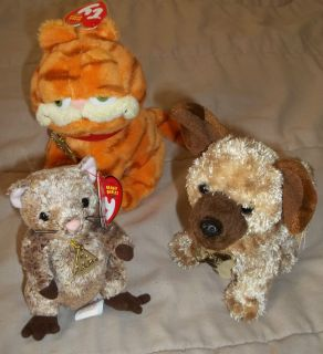 the Movie TY Beanie Babies Garfield Odie the Dog Louis the Mouse
