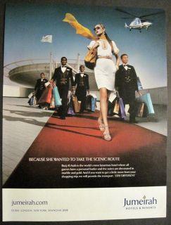 Dubai Burj Al Arab Luxury Hotel Helicopter Landing Pad Woman Shopping