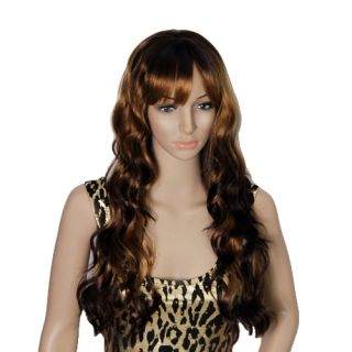Synthetic Hair Full Lace Front Wig Light Brown Human Do