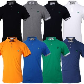 Lyle Scott Green Eagle Mens KB678 Club Cotton Tipped Golf Polo Shirt