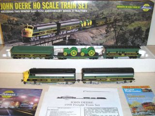 HO Scale 2 JD 1998 JOHN DEERE F UNITS 75th ANNIV w MODEL D TRACTORS