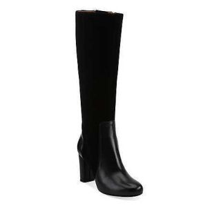 Indigo by Clarks Womens Loyal Pearl Black Leather and Suede Tall Boots