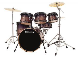 Ludwig Element Birch 6 pc Fusion Drum Set Charcoal Fade Kit New Video