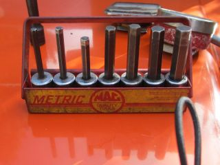Mac Tools Hex Key Sockets Set with Holder Metric