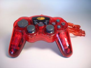 Mad Catz Red Dual Force Hand Controller For Playstation 1 2 PS1 PS2