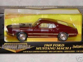 Ertl 1 18 69 Ford Mustang Mach I Royal Maroon 1 3750