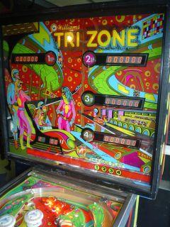 Williams Tri Zone Pinball Machine Working Project