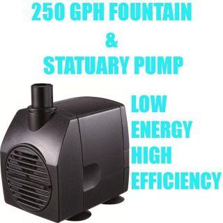 250 GPH Statuary Fountain Pond Pump Low Energy Mag Drive Pump