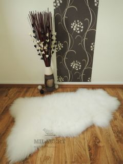 Extra Large Genuine Soft Thick Wool Sheepskin Rug White W1