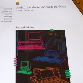 1990 Macintosh Family Hardware Guide 500pg Mac SE Plus Mac II IIx IIcx