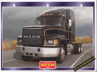 1995 Mack CH 600 Truck History Photo Spec Sheet