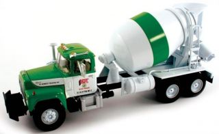 LARGE LOT OF 10 ASST MACK CEMENT MIXER TRUCKS ALL MINT IN BOXES BY