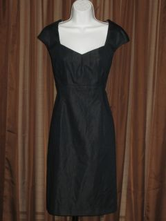 Connected Navy Blue Mad Men Style Sheath Dress Size 14