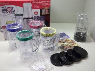 MAGIC BULLET EXPRESS BLENDER MIXER SYSTEM ACCESSORIES ONLY MUGS LIDS