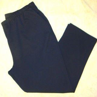 Lands End Womens Pants Sport Knit Large Petite Black