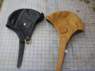 Custom Made Mad Bomber Style Hat Bison or Elk Leather