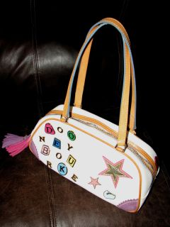 Authentic Dooney Bourke Handbag multi colored zipper Super Cute take a