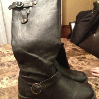 Madden Girl Black Boots Sz 8