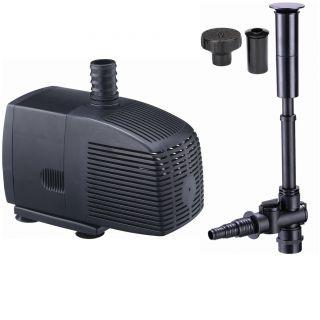 350 GPH Mag Drive Koi Pond Pump Fountain Kit Includes 3 Fountain