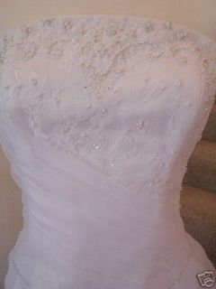 Wedding Gown MAGGIE SOTTERO Beautiful Beaded Strapless Dress sz 14
