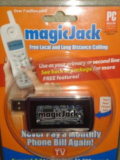 Magic Jack USB Phone 1 Year Free Service Local Long Distance BRAND NEW