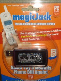 Magic Jack USB Phone 1 Year Free Service Local Long Distance BRAND NEW