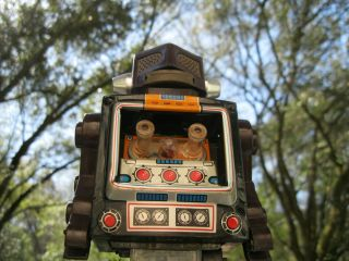 Vintage Horikawa Mr Zerox Tin Toy Robot