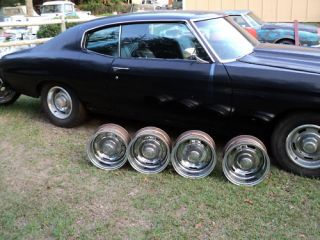 14 x 7 Chrome Rally Wheels Set of 4