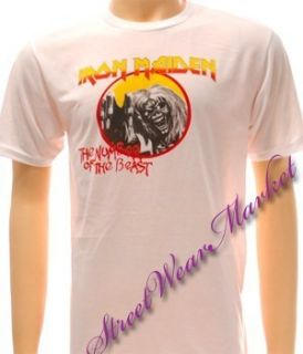 Iron Maiden Rock The Trooper Heavy Metal Punk Alternative T shirt Sz