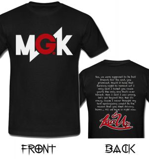 MGK Machine Gun Kelly Rap Hip Hop 2 Side T Shirt Size s M L XL 2XL