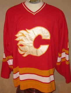 Authentic Game Worn Al MacInnis Calgary Flames Hockey Jersey HOF