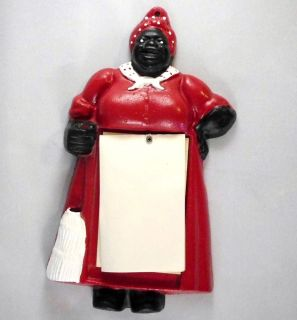 Jemima Black Americana Note Pad Pencil Holder 1950s Cast Iron Mamie