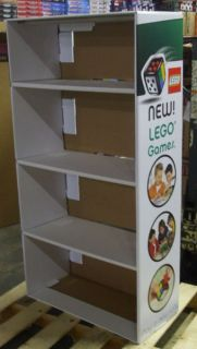 Lego Games Shelf Unit Cardboard Store Display Case New