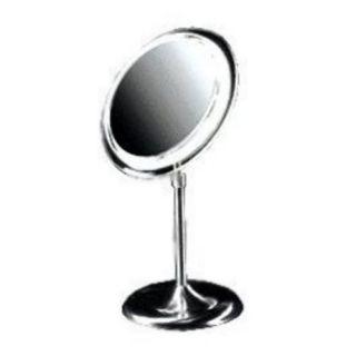 Pedestal 5X Magnification Adjustable Light Stand Makeup Mirror