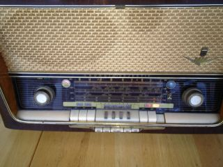 1950′s German Grundig Majestic 5088 SW Tube Radio Works