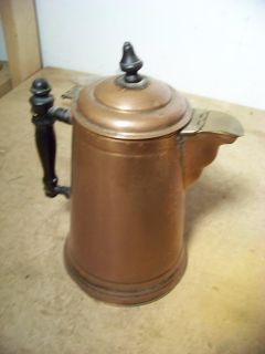 Old Majestic Wood Stove Copper Brass Coffee Pot