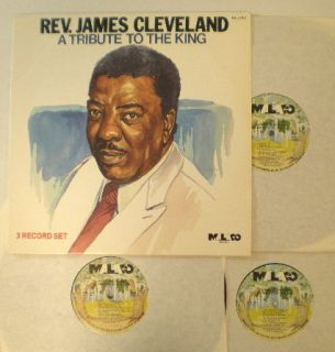 Black Gospel VA Tribute to James Cleveland Malaco 3 LP