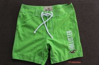 Hollister Men Green Manhattan Beach Swim Board Shorts Swimwear