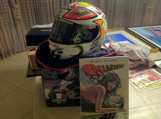 Valentino Rossi Signed TI Tech Milo Manara Helmet Mugello 2006